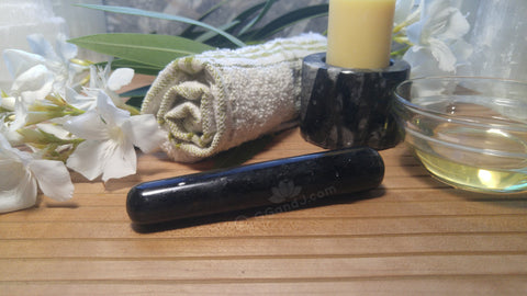 Spa Towel massage Oil gemstone wand Relax Therapeutic Luxury Flower Healing Candle Nuummite