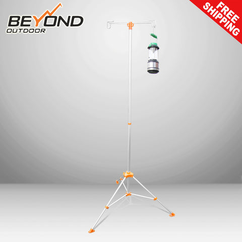 Portable Lantern Pole Holder Two Hooks Come with Carry Bag