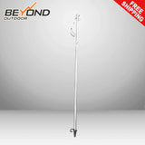Portable Lantern Pole Holder Stainless Steel Pole One Hook Adjustable Height