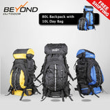 80L Backpack with day bag Camping Hiking Travel Backpack RUCKSACK