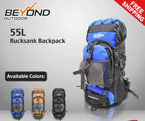 55L Camping Hiking Travel Backpack RUCKSACK Water proof Backpack