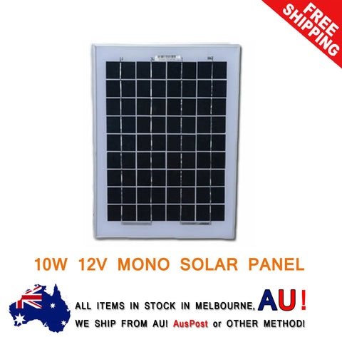 10W 12V Solar Panel Kit Caravan Camping Power Charging Battery