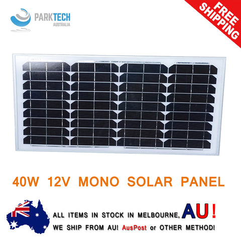 12V 40W Solar Panel Generator Caravan Camping Power Mono Charging Kit