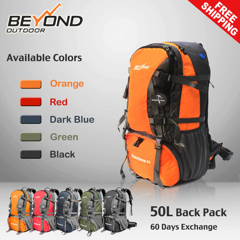 50L Rucksack CAMPING HIKING MOUNTAIN TRAVEL BACKPACK Beyond Outdoor