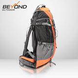 60L + 5L Outdoor Backpack Rucksack Bag Hiking Camping Travel Camp Equipment Gear