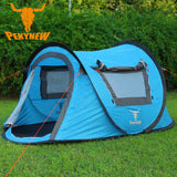 PEKYNEW 2 Person Pop-Up Tent Waterproof UV Protection Instant Set-Up D-Door