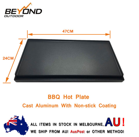 Beyond Outdoor BBQ Hot Plate To Fit Portable Twin Gas Stove Cooker 47CM X 24CM