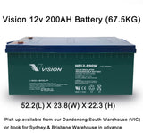 Excorp Used Vision 200AH AGM Deep Cycle Batttery For Dual battery, Caravan, Off-grid Solar