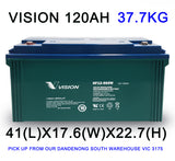USED VISION 12V 120AH AGM Deep Cycle Batttery - For Dual Battery, Caravan, Off-Grid Solar