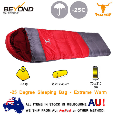Twin -25°C Outdoor Camping Envelope Sleeping Bag Keep You Warm in Winter 210X140cm