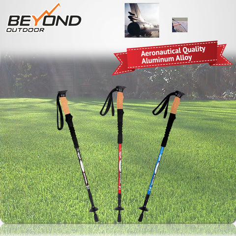 Straight Type Pole ANTISHOCK Aircraft 7050 Aluminum ANTISHOCK WALKING POLES TREKKING/HIKING stick