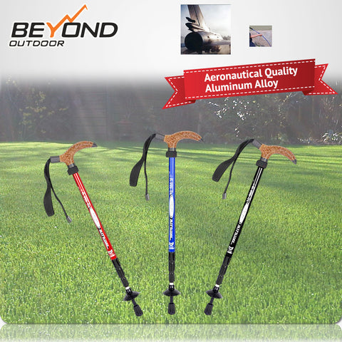 T type TREKKING/HIKING Poles ANTISHOCK Aircraft 7050 Aluminum ANTISHOCK WALKING