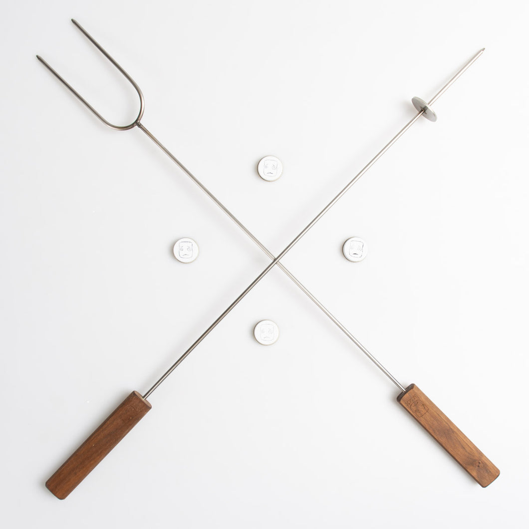 The Social Set, a roasting stick and target set combination for your MMX Marshmallow Crossbow