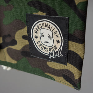 Embroidered MMX Marshmallow Crossbow logo on our Camo Carry Bag