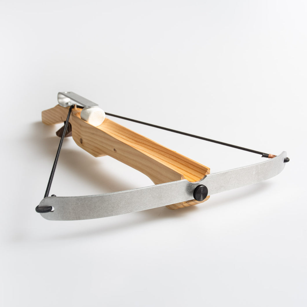 The MMX Marshmallow Crossbow, our Weapon of Marshmallow Destruction!