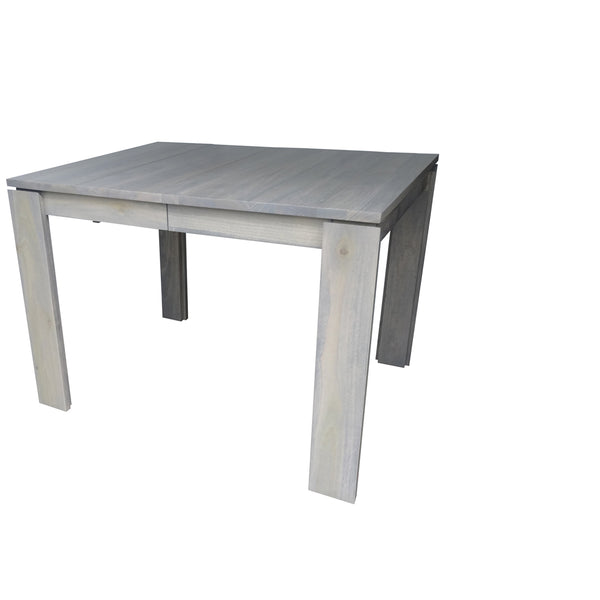 Tofino Dining table - shown in Poplar with Stone Grey stain