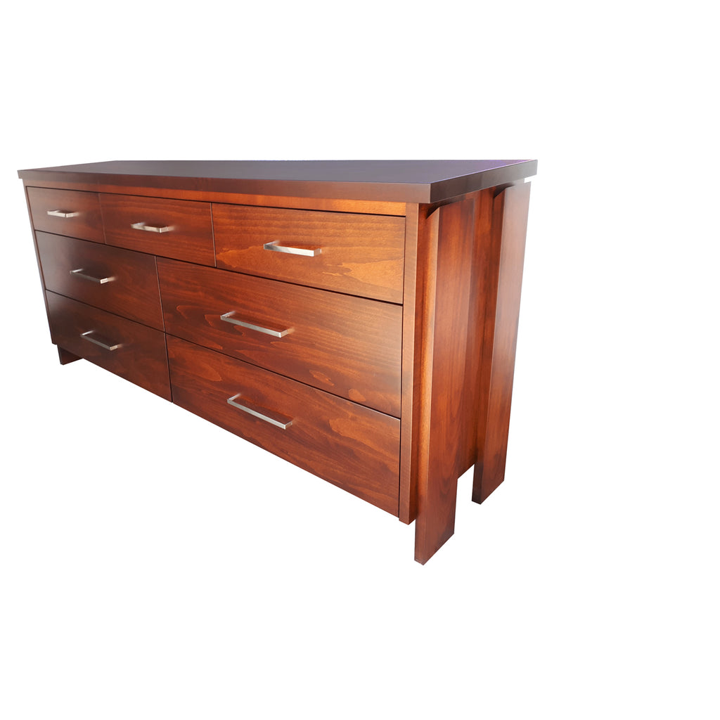 Tofino 7 Drawer Dresser - shown in Maple with Coco Cherry stain