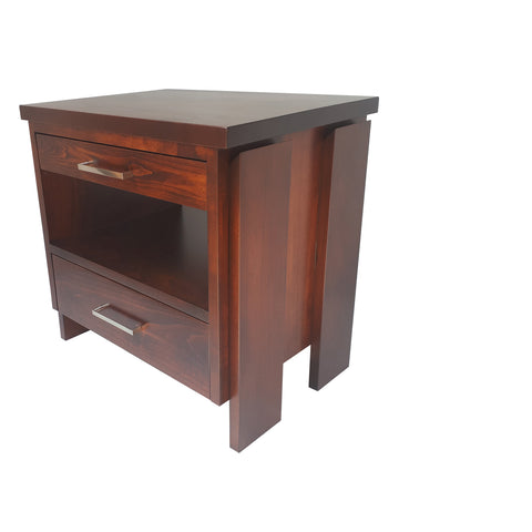 Tofino Nightstand - shown in Maple with Coco Cherry stain