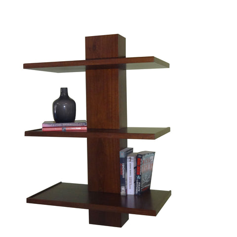 Short Blackcomb Bookshelf - shown in Poplar with Coco Cherry stain