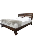 Vancouver Platform Bed - shown in Poplar with Coco Cherry stain