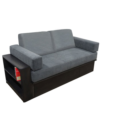Vancouver Sofabed - Shown in Slate Stain & Breton Storm Fabric