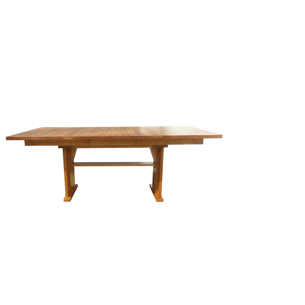 Vancouver Trestle Table - With Leaf in