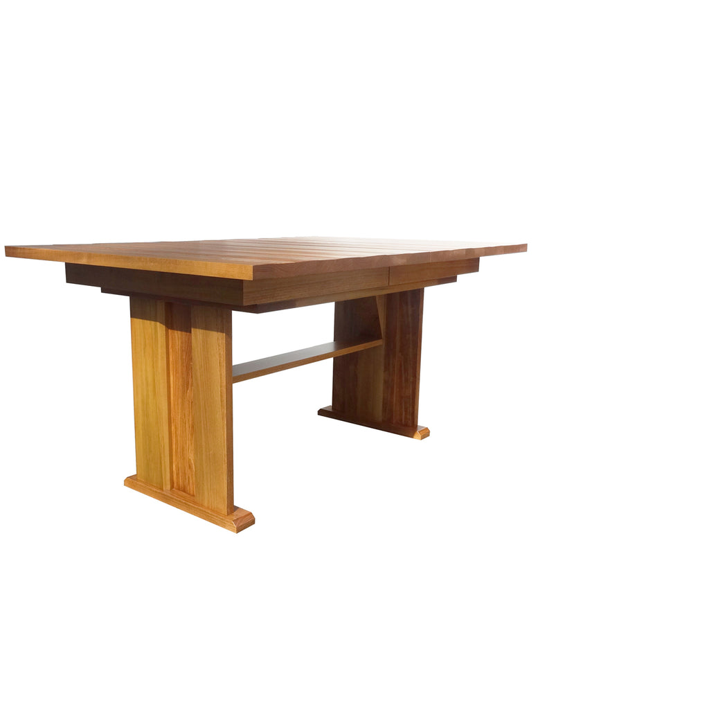 Vancouver Trestle Table - Shown in Poplar with Salem Stain