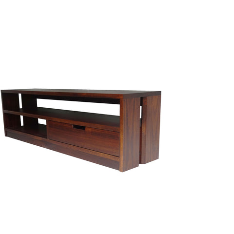 Queue Entertainment unit - Shown in Poplar with Coco Cherry Stain
