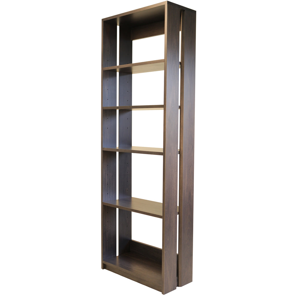 Straight Up Bookcase - Shown in Poplar with Slate stain
