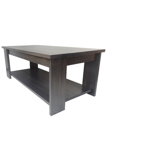 Vancouver Offset Coffee table - Shown in Maple with Slate Stain