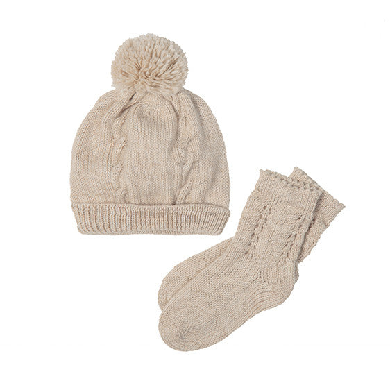 Organic Cotton Baby Clothes Handmade by Artisans | Alpaca Winter Set