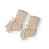 Vintage Style Alpaca Baby Booties | Gift Ideas | Organic Baby Clothes - Left