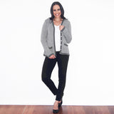 Alpaca Wool | Grey Cardigan | Cardigans for Women | Organic Clothing - Open