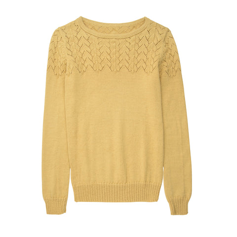 Alpaca Wool Amarillo Lace Jumper