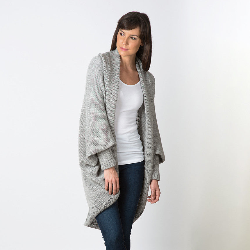 Oversized Alpaca Cardigan | Cardigan for Women | Organic Cotton
