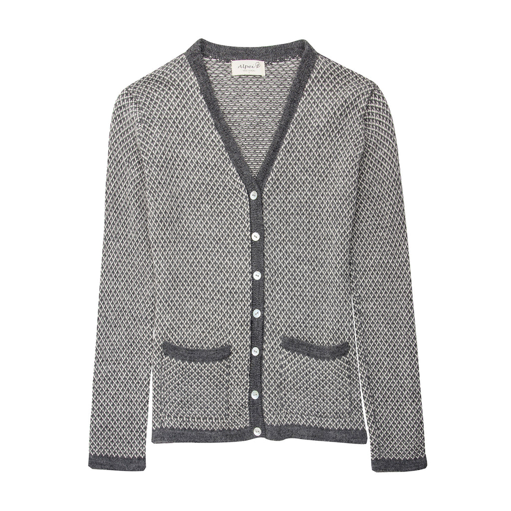 Alpaca Wool | Grey Cardigan | Cardigans for Women | Organic Clothing - Front
