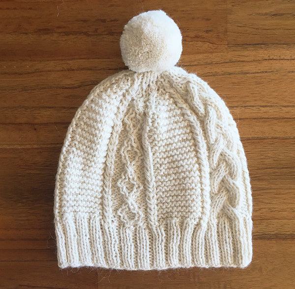 Pompom Beanie | Alpaca Wool | Beanies for Women | Organic Cotton