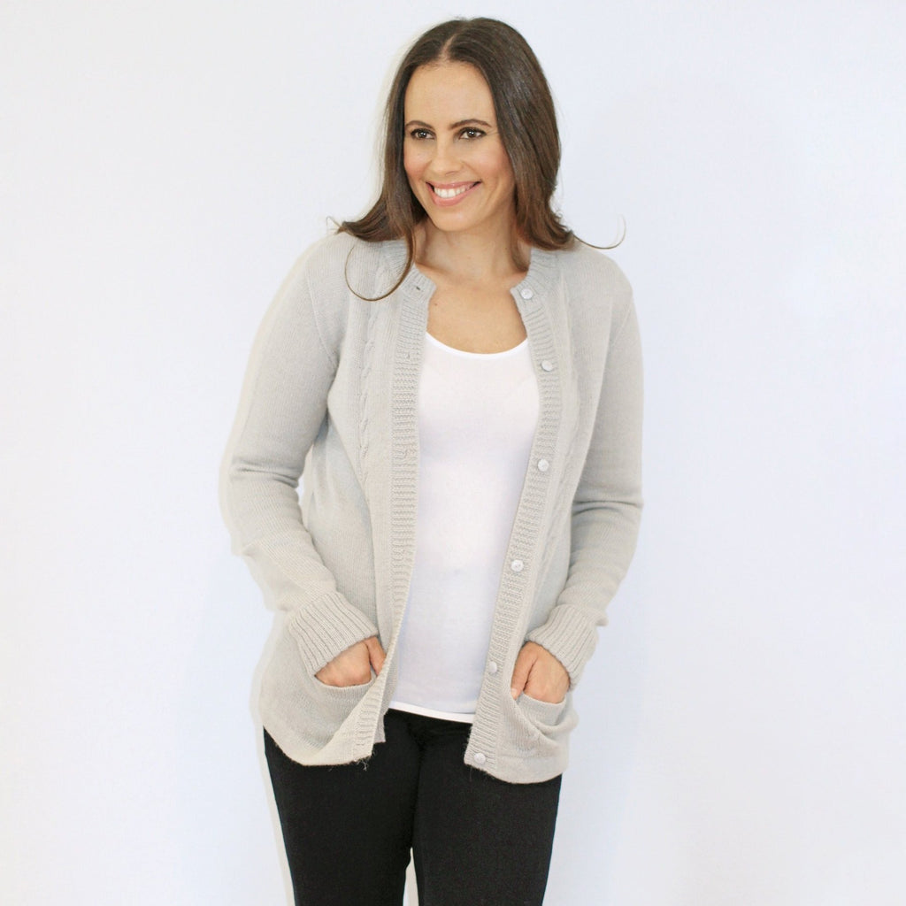 Alpaca Wool | Vintage Cardigan with Pockets | Cardigan for Women