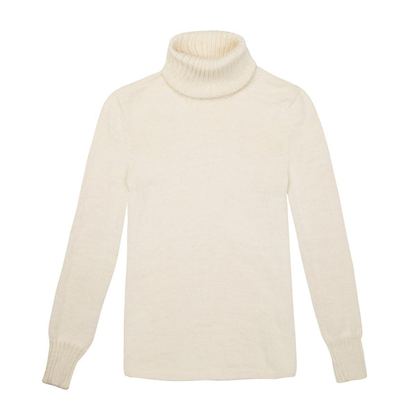Alpaca Wool | Roll Neck Jumper | Organic Clothing