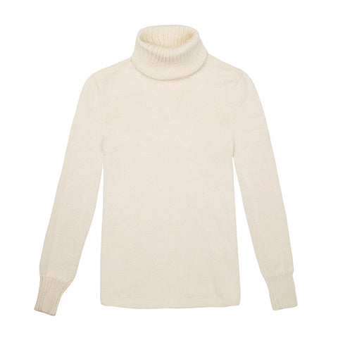 Baby Alpaca Wool Roll Neck Knit
