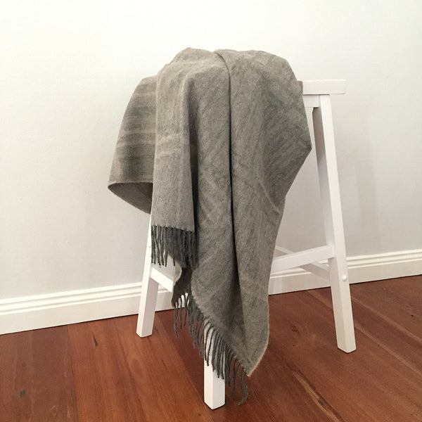 Alpaca Wool | Throw Blanket | Wool Blanket | Organic Cotton