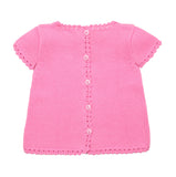 Cotton Top | Organic Baby Clothes | Crochet Clothes for Babies - Light Pink