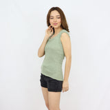 Olive Tanguis Cotton Knitted Top