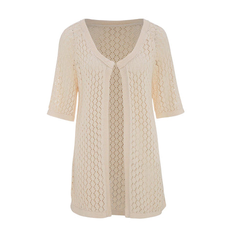 Lace Natural Cotton Cardigan