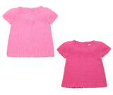 Pink Summer Top Set | Girls Clothes | Organic Baby Clothes - front
