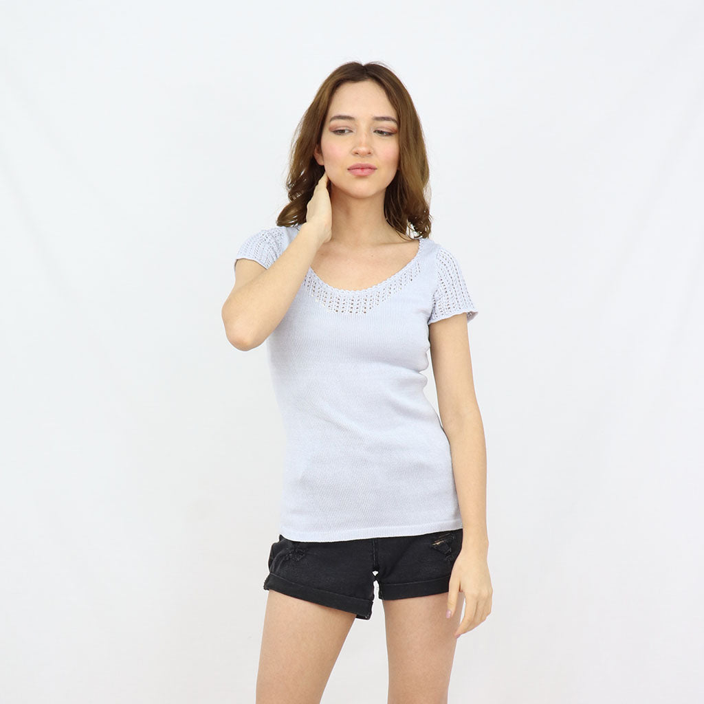 Pima cotton handknitted top