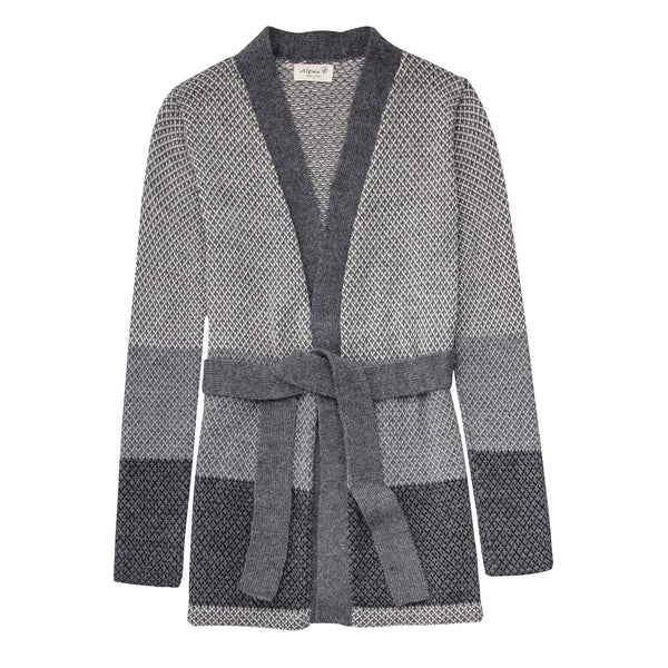 Alpaca Wool | Belt Cardigan | Cardigan for Women | Organic Clothing - Front