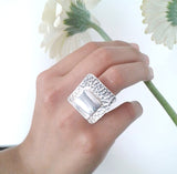 Geometric Ring | Sterling Silver Ring | Handmade Jewellery