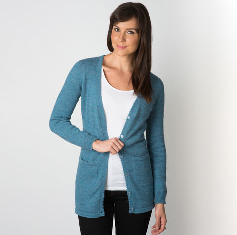 Alpaca Wool Timeless V-neck Cardigan