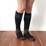 Alpaca Socks | Alpaca Wool | Handcrafted Organic Cotton - black